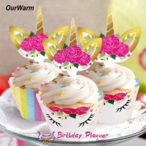 Unicorn Theme Party Cup Cake