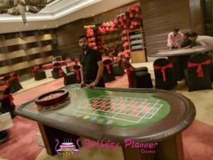 Rental casino table