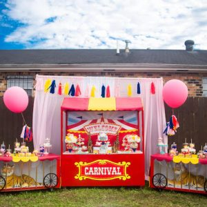 Backyard carnival Theme birthday decoration