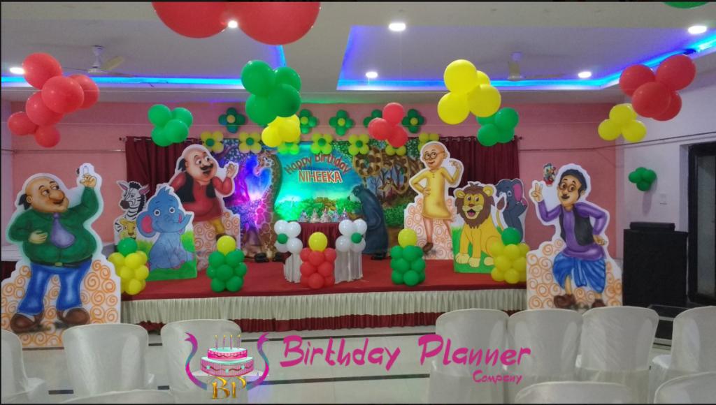Motu Patlu Theme Decoration for Birthday Party in Delhi, Faridabad, Noida