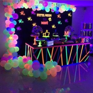 Glow party theme
